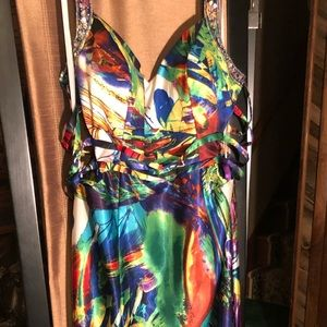 Colorful one of a kind prom dress!
